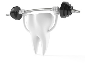 tooth-with-barbells